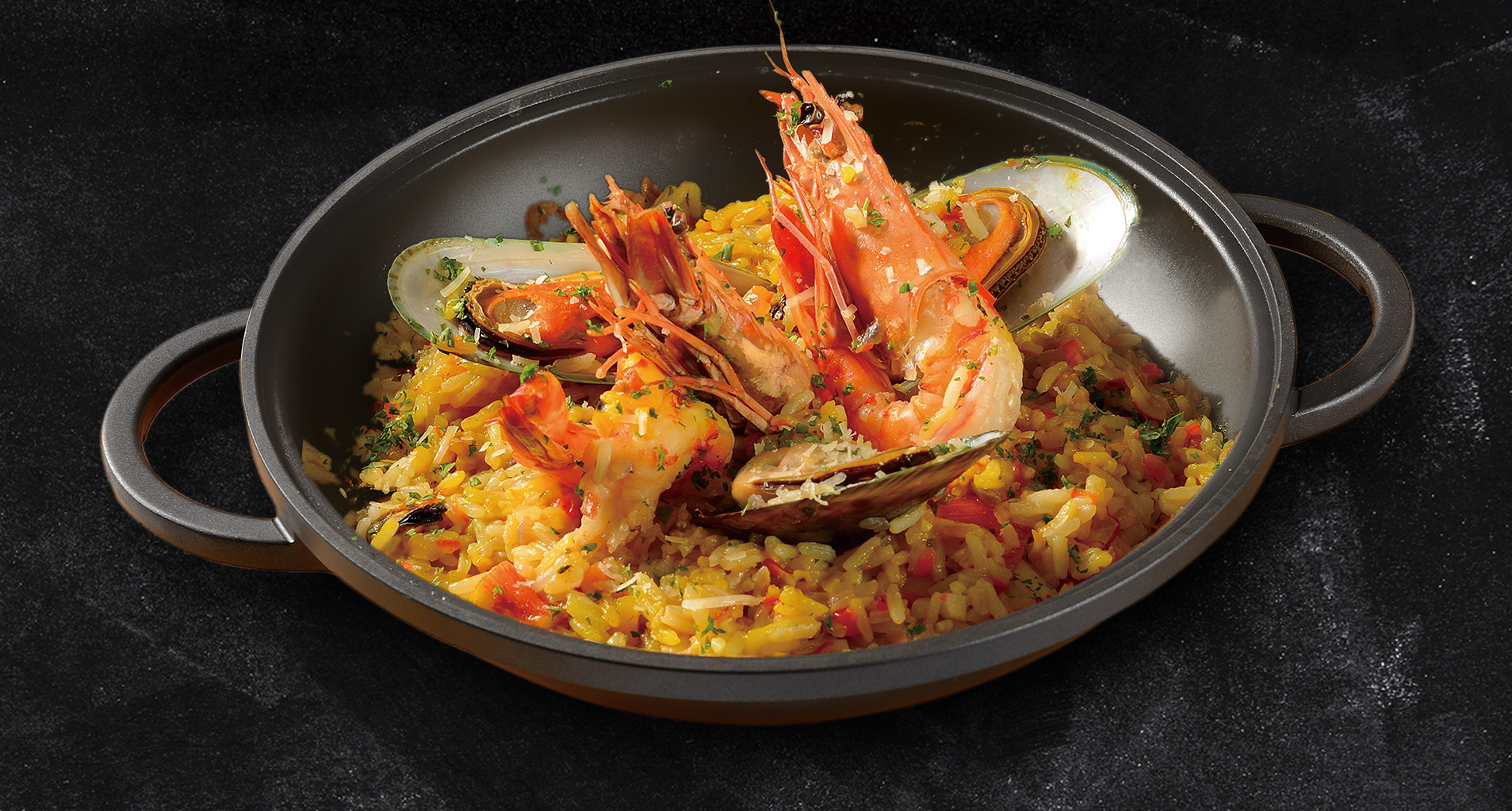 <b>Spanish Seafood Rice with Saffron</b><br/>