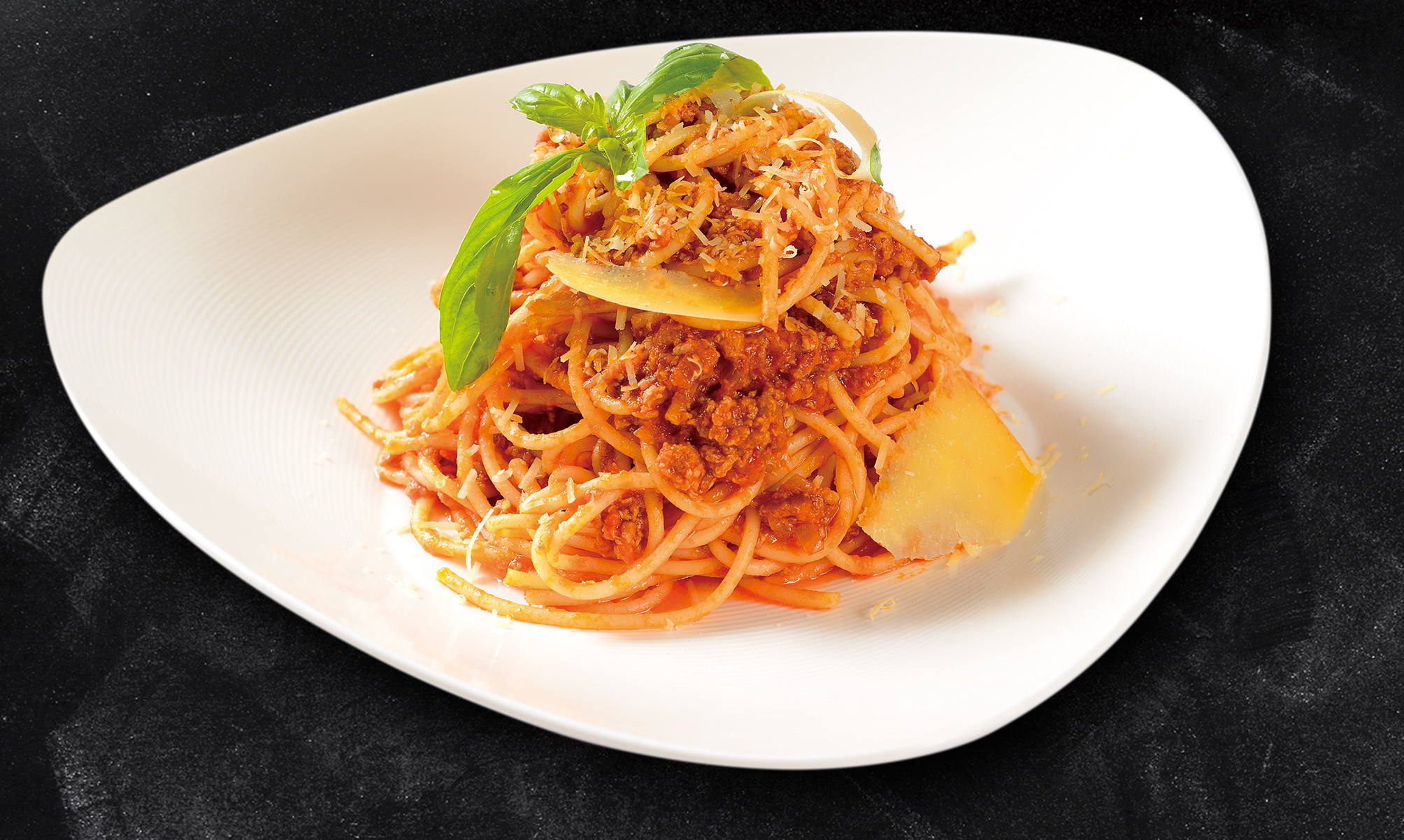 <b>Spaghetti Bolognese With Parmesan Cheese</b><br/>A Bologna Favorite! Spaghetti covered in a Tomato