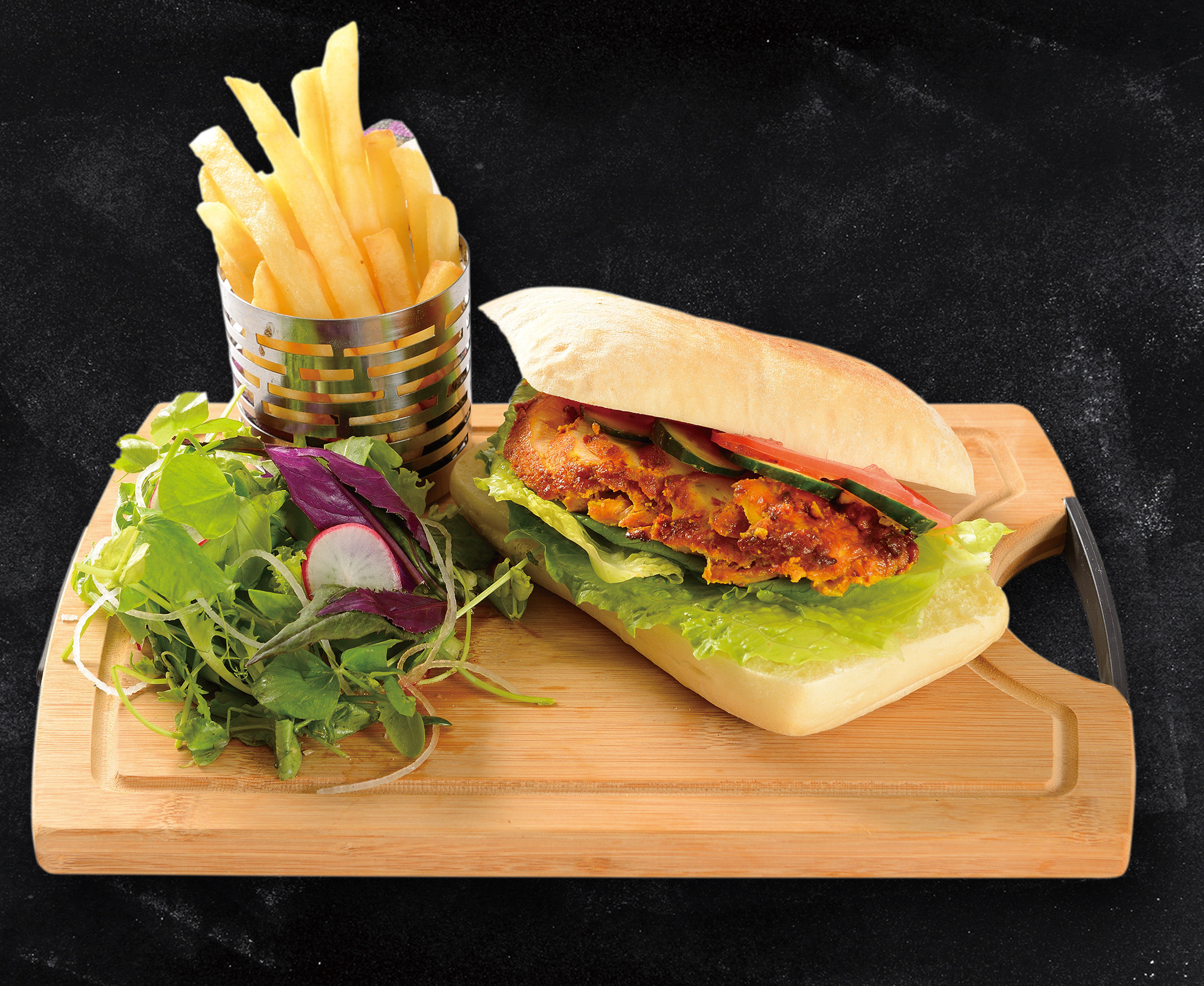 <b>Grilled Chicken Tikka Sandwich</b><br/>