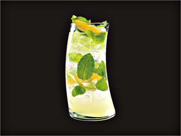 <b>Mojito</b><br/>Rum, Margarita Mix, Mint Leaves, Lime Squeeze, Soda