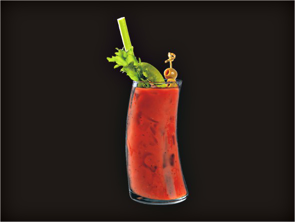 <b>Bloody Mary</b><br/>Vodka, Tomato Juice, Lea & Perrins, Tabasco, Pepper