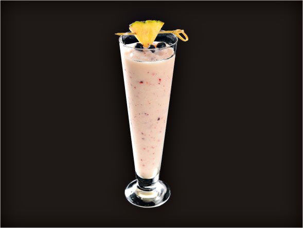 <b>Blueberry Pina Colada</b><br/>Rum, Pina Colada Mix, Blueberry, Pureed Blueberry
