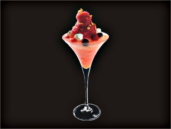<b>Heaven Martini</b><br/>X-Rated, Margarita Mix, Blue Curacao, Raspberry pureed, Blueberry