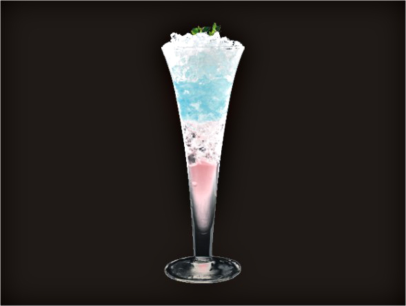 <b>Mid-Night in Florence</b><br/>Violet Syrup, Margarita Mix, Vodka, Blue Curacao
